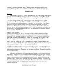 Tuolumne River Gravel Addition- Phase II Enhance salmon and ...