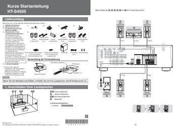 Kurze Startanleitung HT-S4505 Lieferumfang - Onkyo