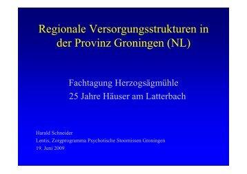 Regionale Versorgungsstrukturen in der Provinz ... - Herzogsägmühle