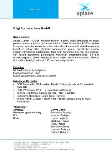 Bilgi Formu xplace GmbH