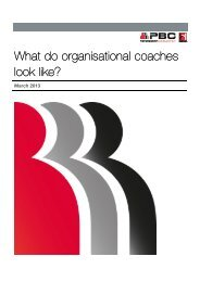 What do organisational coaches look like? - Peter Berry Consultancy