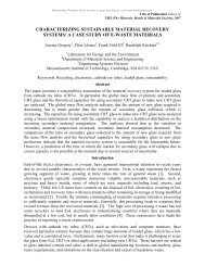 characterizing sustainable material recovery systems: a case study ...