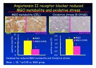 Angiotensin II receptor blocker reduced MGO metabolite and ... - imars