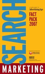 Search Marketing Fact Pack 2007 - Advertising Age