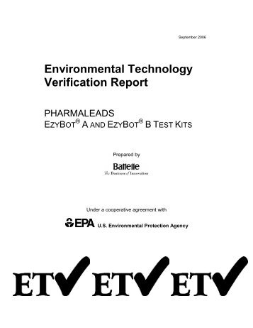 Environmental Technology Verification Report - US Environmental ...