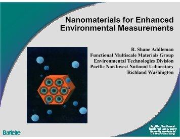 Nanomaterials for Enhanced Environmental Measurements