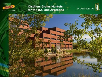 Distillers Grains Markets for the U.S. and Argentina