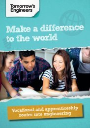 Tomorrows Engineers vocational and apprenticeship routes into engineering web booklet
