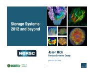 Storage Systems - National Energy Research Scientific Computing ...