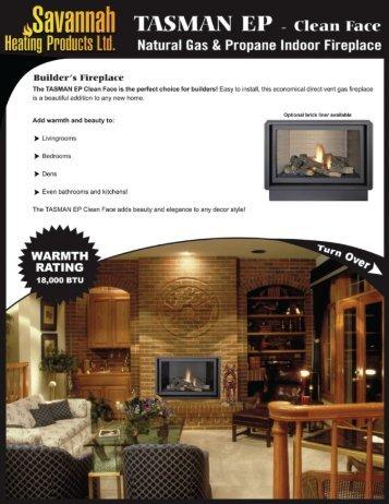 Natural Gas & Propane Indoor Fireplace - Savannah Heating