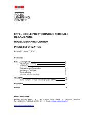 press kit - Rolex Learning Center   EPFL