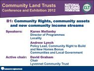 Karen Mellanby, Andrew Lynch and David - Community Land Trusts