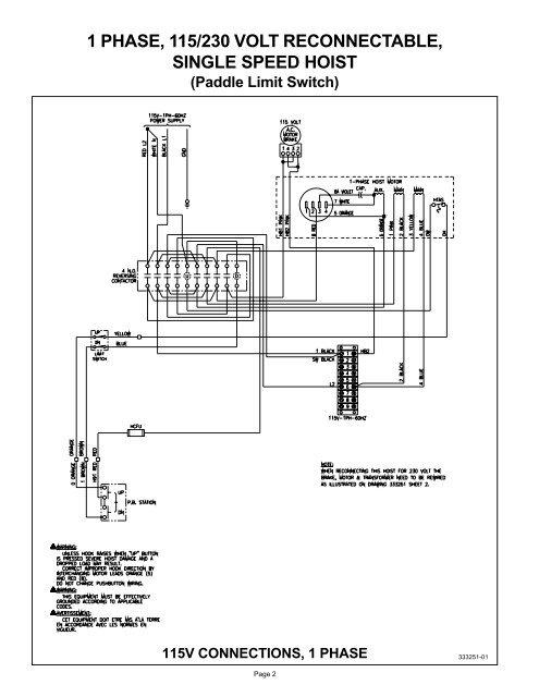 2 Sd Hoist Wiring Diagram   Wiring Schematic Diagram - 6 ... Yale Hoist Wiring Diagrams on