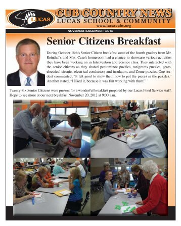 nov newsletter - Lucas Local Schools