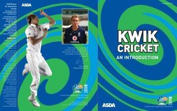 ASDA Kwik Cricket - An Introduction - Ecb - England and Wales ...