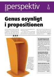 Genusperspektiv nr 5/12 i pdf - Nationella sekretariatet för ...