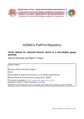 Download (1071Kb) - ACMAC's PrePrint Repository