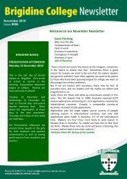 Issue 006 November 19th 2010 - Brigidine College Randwick