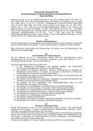 Satzung über Erlaubnisse für Sondernutzungen an ...