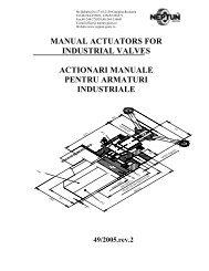 manual actuators for industrial valves actionari ... - Neptun Gears