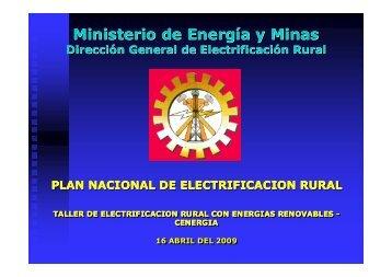 Plan Nacional de Electrificación Rural - Tech4CDM