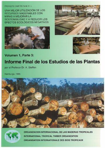 Informe Final de los Estudios de· las Plantas - ITTO