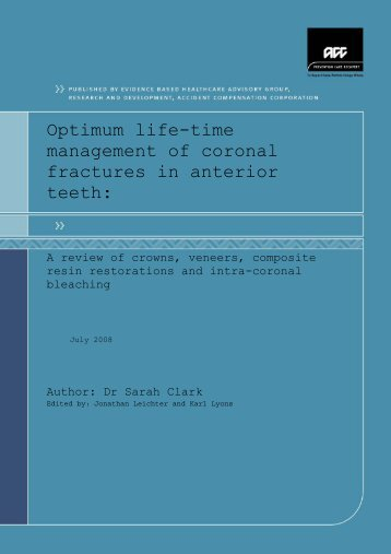 Optimum life-time management of coronal fractures in anterior ... - ACC