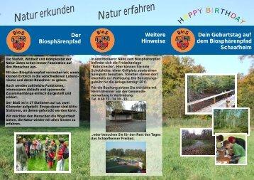 Natur erkunden Natur erfahren - Schaafheim