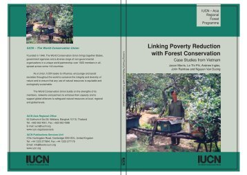 Linking Poverty Reduction with Forest Conservation - IUCN