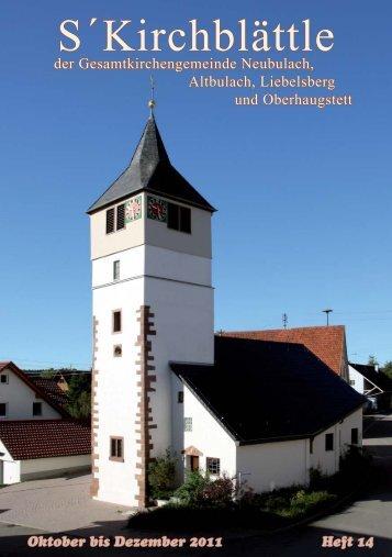 Kirchblättle Oktober 2011 Homepage.indd - Evangelische ...