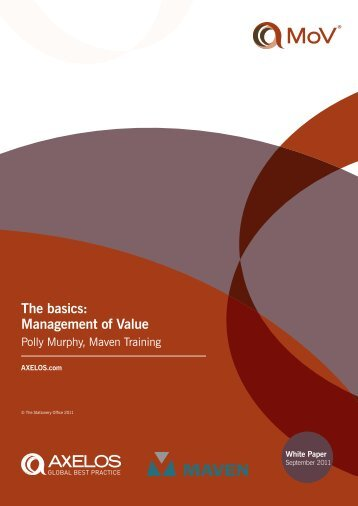 The basics: Management of Value - Best Management Practice