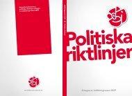 Politiska riktlinjer - Socialdemokraterna