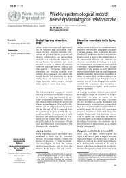 Weekly epidemiological record Relevé épidémiologique ... - Fairmed