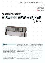 V-Switch VSW-2xE/4xE - HETEC Datensysteme GmbH, Germering