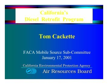 Californias Diesel Retrofit Program Californias Diesel Retrofit