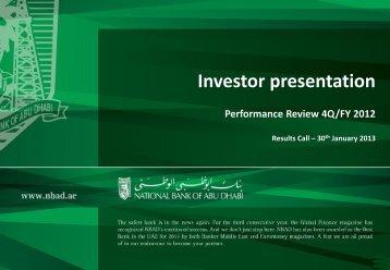Q4 - National Bank of Abu Dhabi