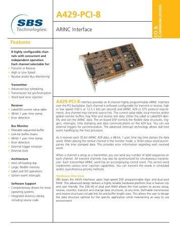 A429-PCI-8 ARINC Interface