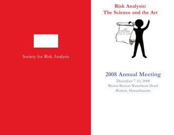 Final Program - Society for Risk Analysis