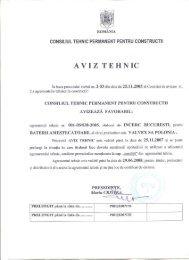 AVIZ TEHNIC - Trotus Grup SRL