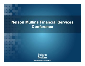 presentation materials - Nelson Mullins Riley & Scarborough