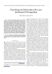 Classifying one billion data with a new distributed SVM algorithm