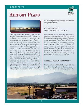 chapter five airport plans.pdf - Jackson County Oregon
