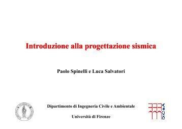 Introduzione Introduzione alla progettazione progettazione sismica