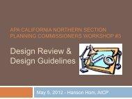 Design Review & Design Guidelines