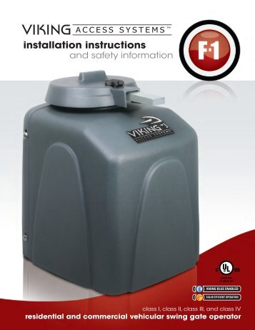 F-1™ Installation Manual - Viking Access