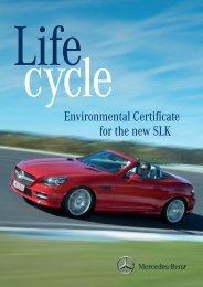 Environmental Certificate for the new SLK - Daimler