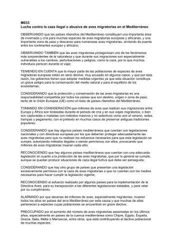 Estructura a seguir para redactar una moción: - IUCN Portals