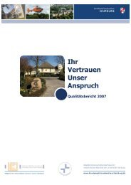 Qualitätsbericht 2007 - Bundeswehrkrankenhaus Hamburg