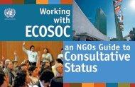 Consultative Status - UN DESA NGO Branch