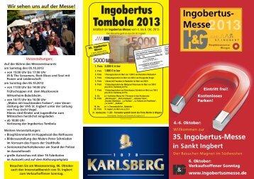Ingobertus Tombola 2013 - Ingobertusmesse